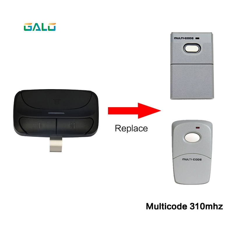 Universal remote control replace 390 M rolling code remote control for popular garage gate opener
