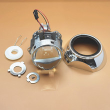 """Upgrade Metal 3.0"""" H1 Projector Leader HID Bi-xenon Headlight Projector Lens Fits H4 H7 LHD With 3.0 Shroud"""
