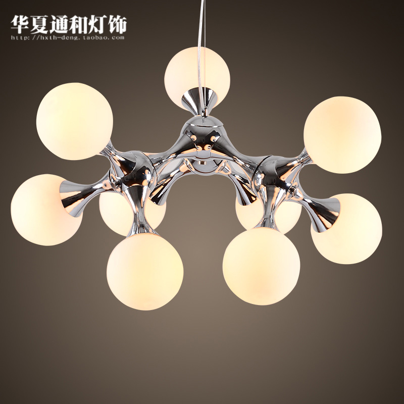After the modern bedroom pendant lamp room simple European style retro style retro DNA molecular Pendant lights modern simple european style dining room lighting american hollow carved iron bedroom pendant lights