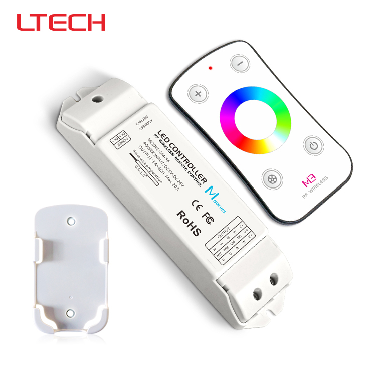 M3+M4-5A,M3 touch rf remote with M4-5A CV receiver led dimmer controller,DC5V-DC24V input,5A*4CH max 20A output m3 m4 5a m3 touch rf remote with m4 5a cv receiver led dimmer controller dc5v dc24v input 5a 4ch max 20a output