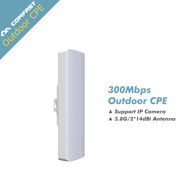 ФОТО Comfast Wireless Outdoor Router 5GHZ 300MBPS WIFI Amplifier Booster Bridge Dual 14dB Antenna wi fi Routers POE Access Point Rj45