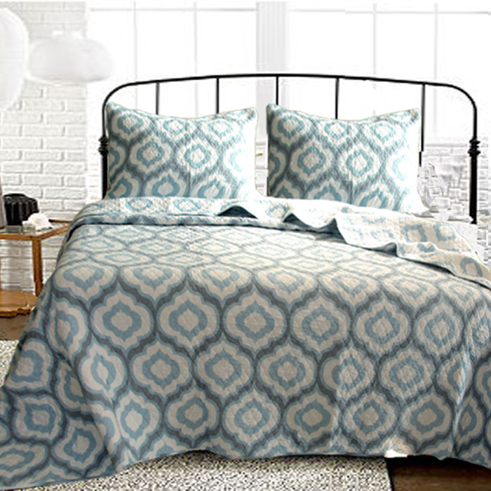 Quality water wash cotton quilting QUILTS <font><b>bed</b></font> cover air conditioning DARK BLUE GEOMETRIC MENS HONME bedspread <font><b>bed</b></font> sheets KING