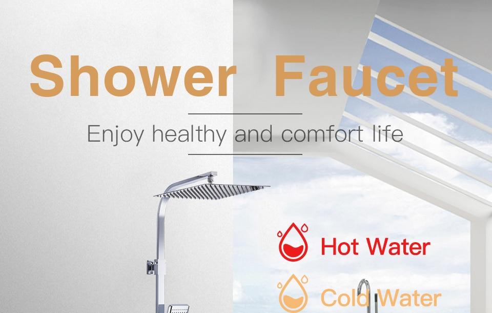 HTB1ecXpaKP2gK0jSZFoq6yuIVXaW GAPPO thermostatic shower set rain shower set shower faucet hot and cold Shower faucet Bathtub thermostatic shower mixer