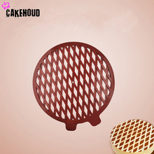 Round Plastic Cake baking tools Sugar Cutter DIY Cream Biscuit Spray Printing Powdered Mould Kitchen Accessories Cake Decor Tool