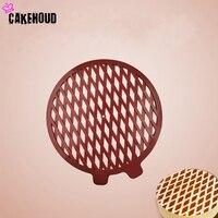 Round Plastic Cake Baking Tools Sugar Cutter DIY Cream Biscuit Spray Printing Powdered Mould Kitchen Accessories