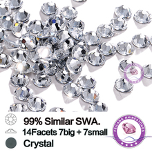 цены 99% Similar Swa 14 Facets 7big+7small SS20 Crystal Clear Hotfix Rhinestones 1440pcs for Professional Buyers Only