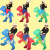 Ride Costume 3 Size Inflatable Dinosaur T Rex Fancy Dress Adult Kids Halloween Costume Dragon Party