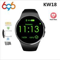 696 KW18 Bluetooth Smart Watch TK2502C 1.3 inch HD IPS Wristwatch SIM TF Card Slot Heart Rate Monitor Inteligente Smartwatch Smart Watches Consumer Electronics -