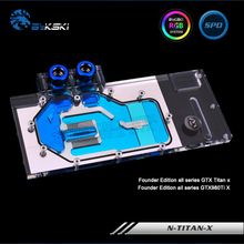 Bykski N TITAN X Full Cover Graphics Card Water Cooling Block RGB RBW ARUA for Founder