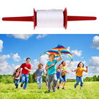 Kite Parachute Accessories 200M Kite Line Kite String Kite Large Thick Line For Winding Plastic Hoop Spool Plastic Red Polyester