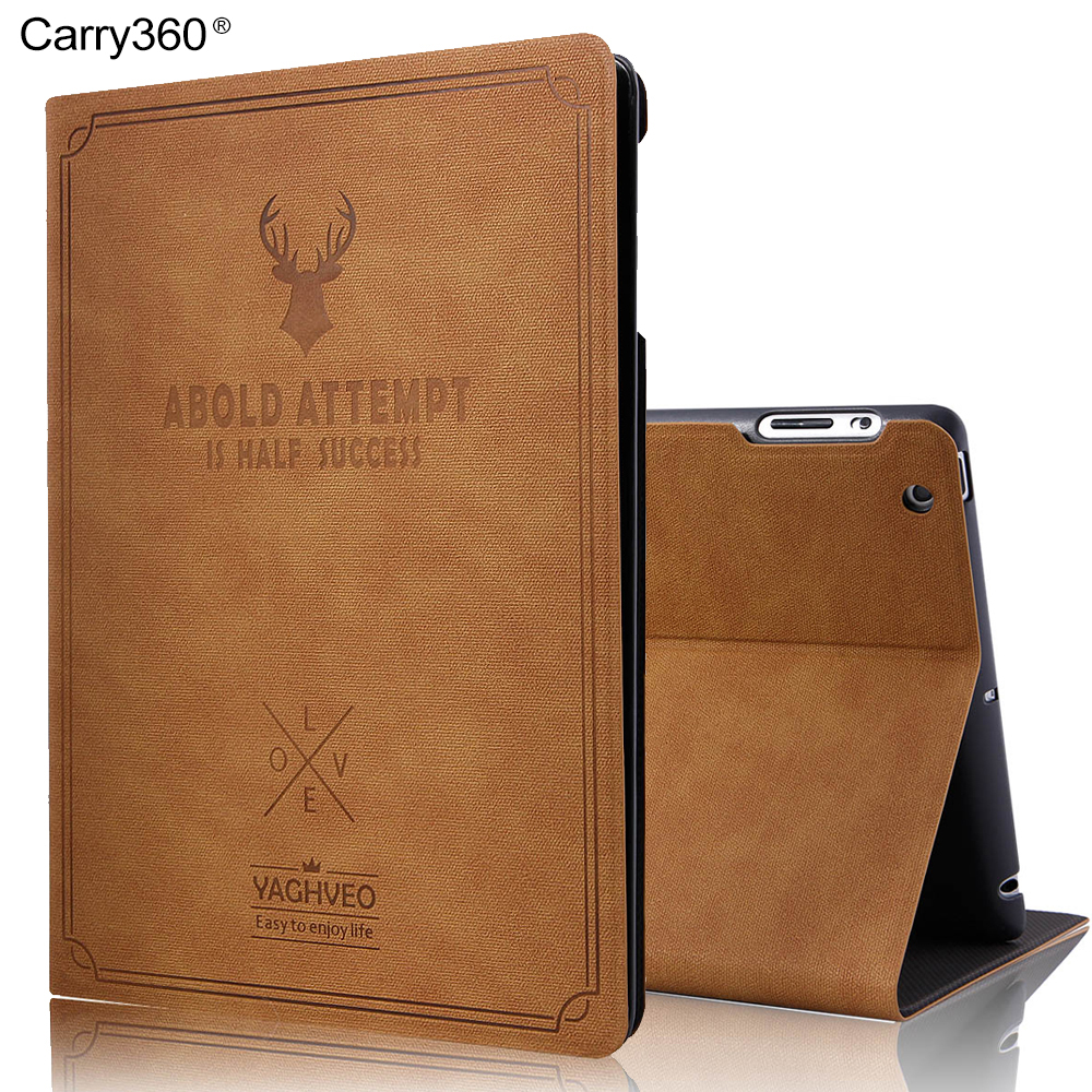 Case for iPad 2 3 4, Carry360 Retro Luxury Leather Magnetic Wake Sleep Stand Smart Cover for Apple iPad 2 for iPad 3 for iPad 4 nice tpu soft silicone back case stand smart cover for apple ipad 2 3 4 case pu leather magnetic wake sleep slim