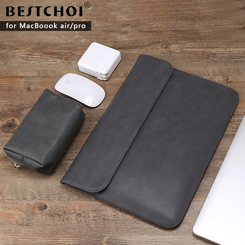Laptop Bag 13.3 15 inch for macbook air 13 case Laptop Case Sleeve for macbook pro 13 Pu Leather Women 14 inch Computer Case jisoncase laptop sleeve case for macbook air 13 12 11 case genuine leather laptop bag unisex pouch for macbook pro 13 inch cover