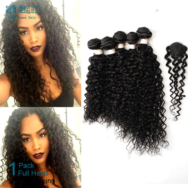 True Glory Hair Curly 5pcs With Closure 12 20 Inch Black Soft Russian