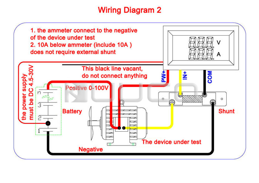 HTB1ecZ2PpXXXXX3XXXXq6xXFXXXZ digital voltmeter ammeter dc 0 ~100v 10a voltage current meter dc ammeter shunt wiring diagram at virtualis.co