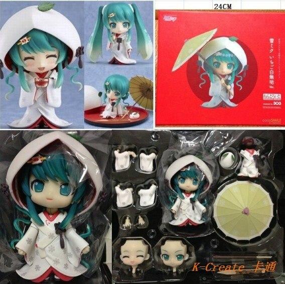 ФОТО Free shipping 1pcs Japana anime pvc  Hatsune Miku Ver Nendoroid Q version action figure toy tall 10cm.Package size:24*21*12CM