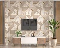 beibehang papel de parede 3d 3D wallpaper living room home decor non woven wallpaper geometric re background wallpaper wall roll