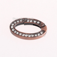 Free Shipping 10pcs/lot Metal Jewelry Findings Materials Oval Shape Copper Color Spring Clasps PSC-R002C