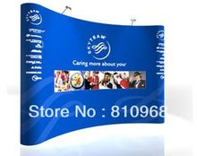 3X4 (230*300CM) magnetic exhibition booth wall backdrop, 8X10ft exhibition trade show display backdrop, large banner