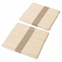 100Pcs Pack Birch Wooden Sterile Waxing Dispsoble Spatula Tongue Depressor Wax Medical Stick For Oral Examination