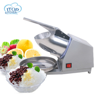 Electric Ice Crusher Shaver Machine Snow Cone Maker Shaved Ice DIY Stainless Steel Commercial Ice Making Maker Machine