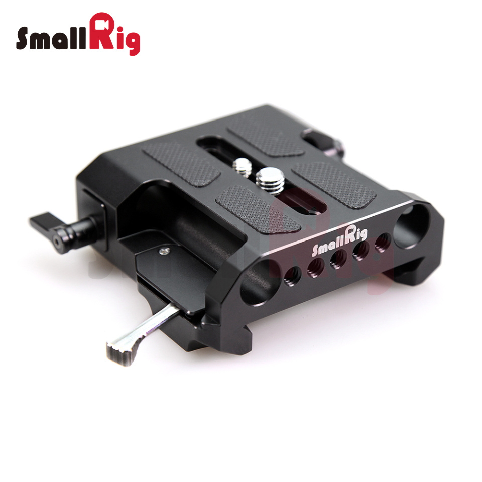 SmallRig Camera Quick Release Plate Standaard ARRI Explorer Bridge-plaat met 15 mm LWS-klemmen voor video-opnamen -1642