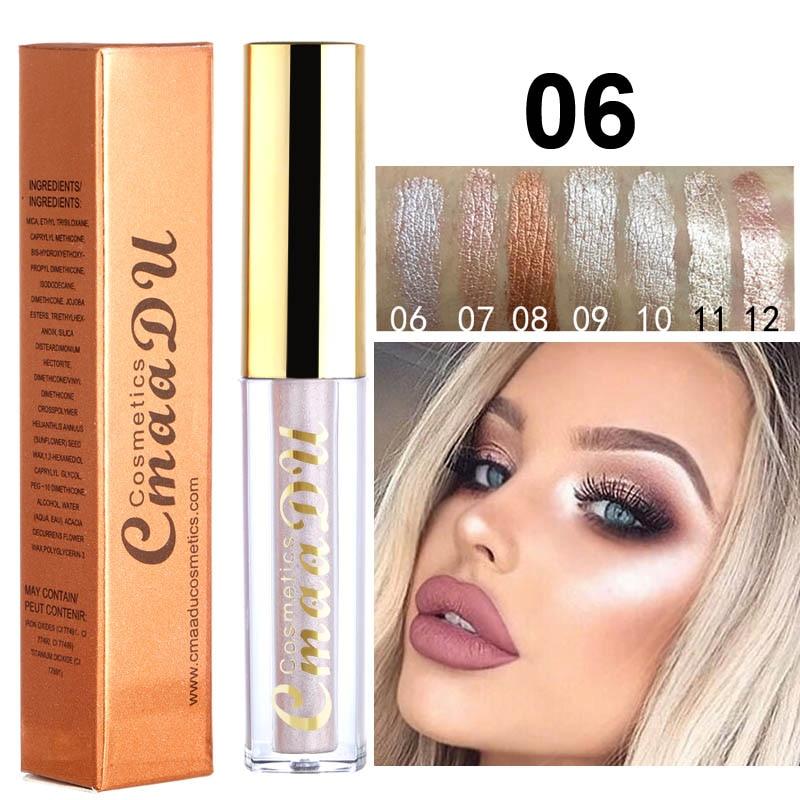 Eye Shadow Beauty & Health Ucanbe Flash Shimmer Eyeshadow Gold Silver Blue Rainbow Highlight Cream Waterproof Long Lasting Liquid Metallic Eyeshadow Au046