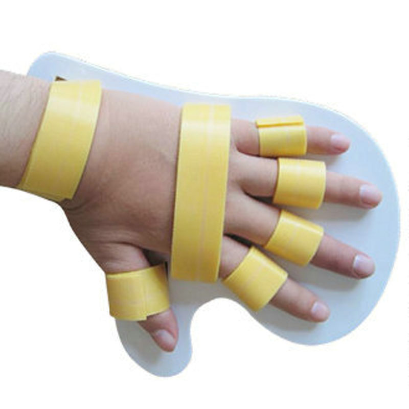 Hand Finger Seperator Brace New High quality Hand Fingers Flex Spasm Corrector Orthosis Therapy Splints Men Women