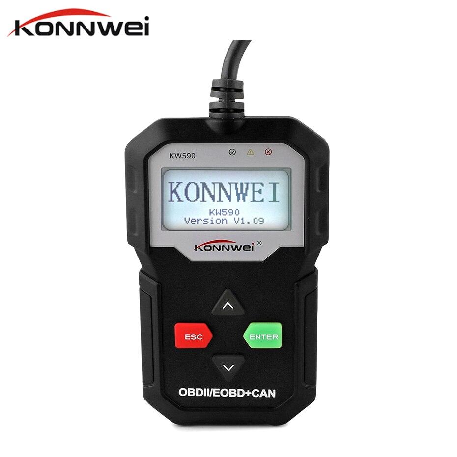 (ツ)_/¯Konnwei KW590 OBD2 Code Reader Авто escanner ...