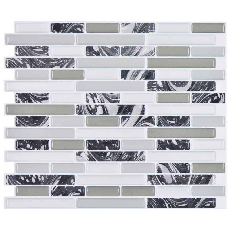Modern style Epoxy Wall Stickers with Natural brick pattern simulation effect Self-adhessive stick for kitchen Bathroom Wall pap