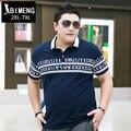 Aumento de gordura grande tamanho de manga curta T-shirt masculina verão meia manga da camisa polo dos homens de Lapela solta gordura gordura 2XL3XL4XL5XL6XL7XL