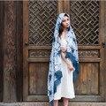 Xales Lenço de boemia Nacional Do Vento Impressão Longa Borlas Lenços E Echarpes Bufandas Pashmina Poncho Feminino Chiffon Hijab