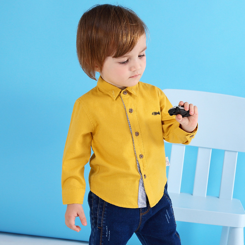 Children's Boy Solid Autumn Baby White Long Sleeves Child Cotton Girls Shirt for Children Clothing 4 Colors Winter Boys Shirts coco perla coco perla co039awirp29