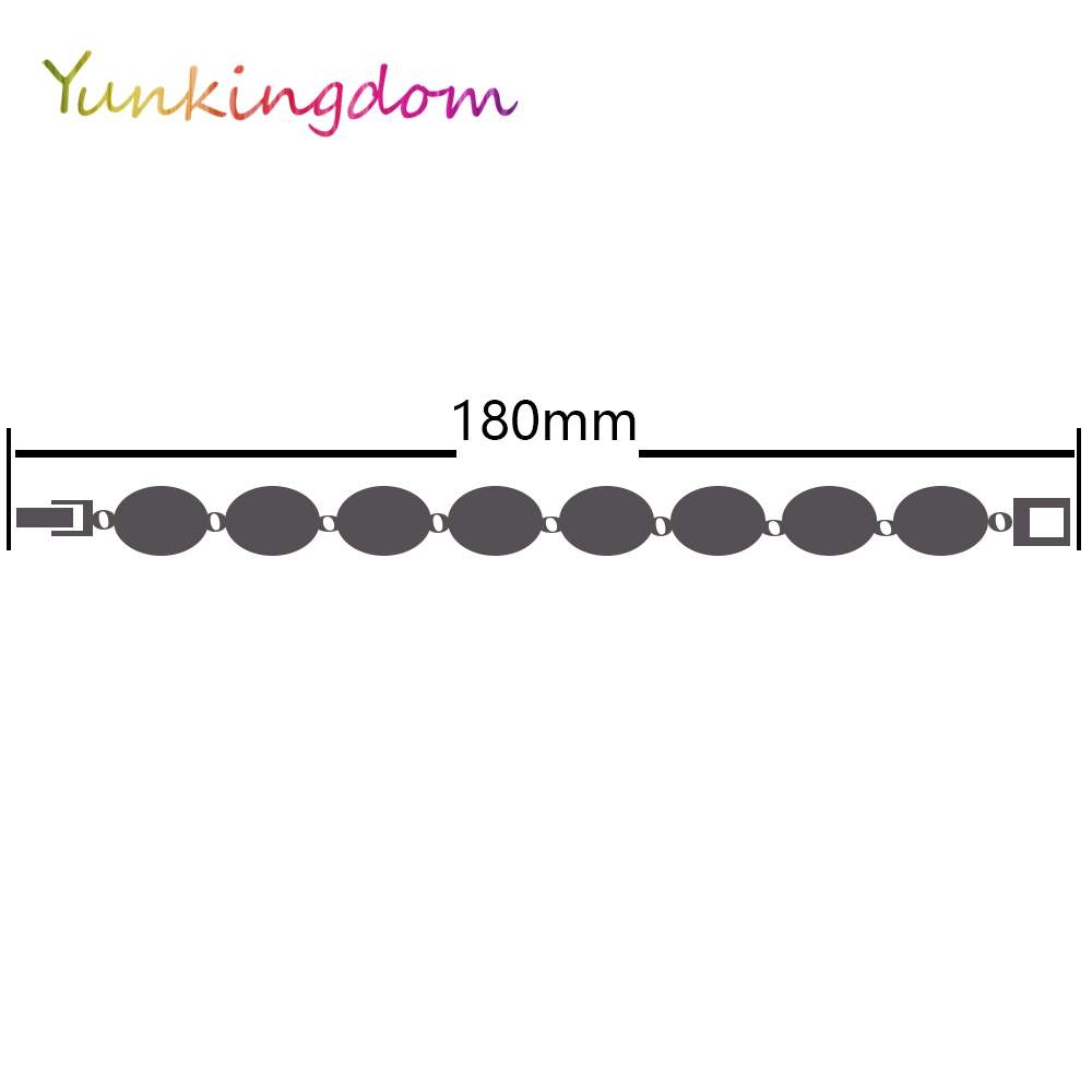 Yunkingdom Ethnic Style Vintage Jewelry Silver Color Bracelets for Women Black Resin wholesale K1794 in Charm Bracelets from Jewelry Accessories
