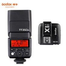 Godox Mini Speedlite TT350S caméra Flash TTL HSS GN36 + transmetteur de X1T S pour Sony appareil photo reflex numérique sans miroir A7 A6300 A6500 A7 III
