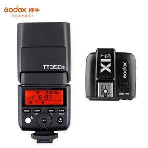 Image 1 - Godox Mini Speedlite TT350S caméra Flash TTL HSS GN36 + transmetteur de X1T S pour Sony appareil photo reflex numérique sans miroir A7 A6300 A6500 A7 III
