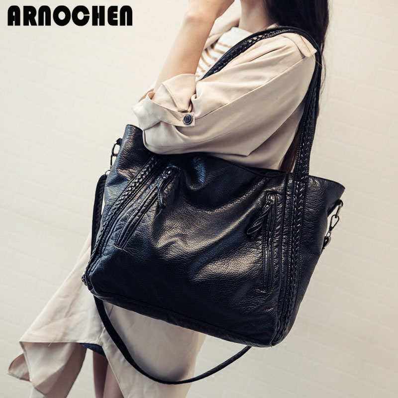 Crossbody Bags For Women Leather Handbags 2018 Fashion Women Messenger Bags Shoulder Bag Female Big Bucket Bag Designer WYQ177 5