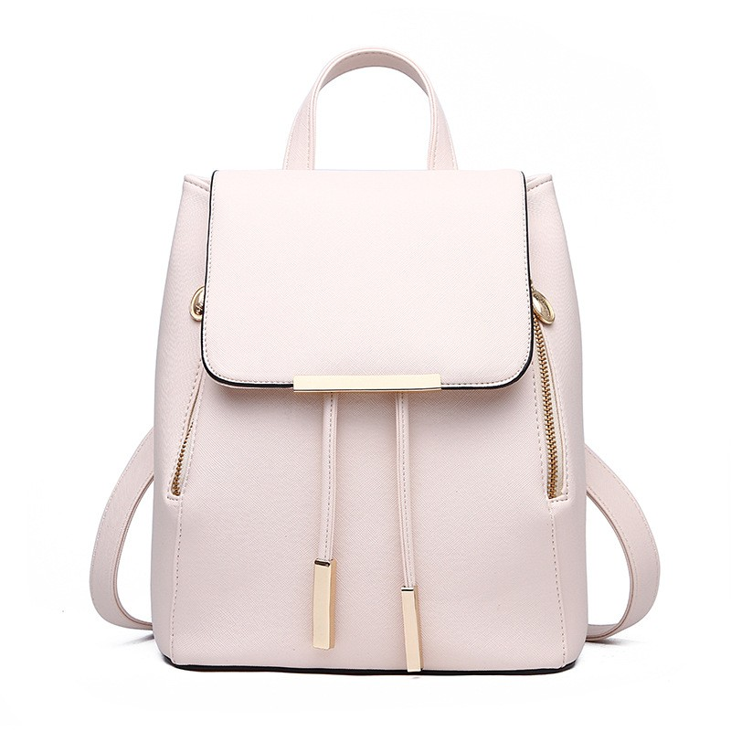 Arsmundi 2019 New Women Backpack PU Leather College Casual Hasp Backpack Fashion Shoulder Book Bag For Teenager Girls Student