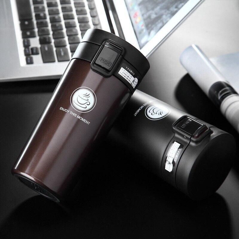 Calidad caliente doble pared de acero inoxidable frascos de vacío 360 ml 380 Ml coche termo taza café té taza de viaje Thermol botella Thermocup