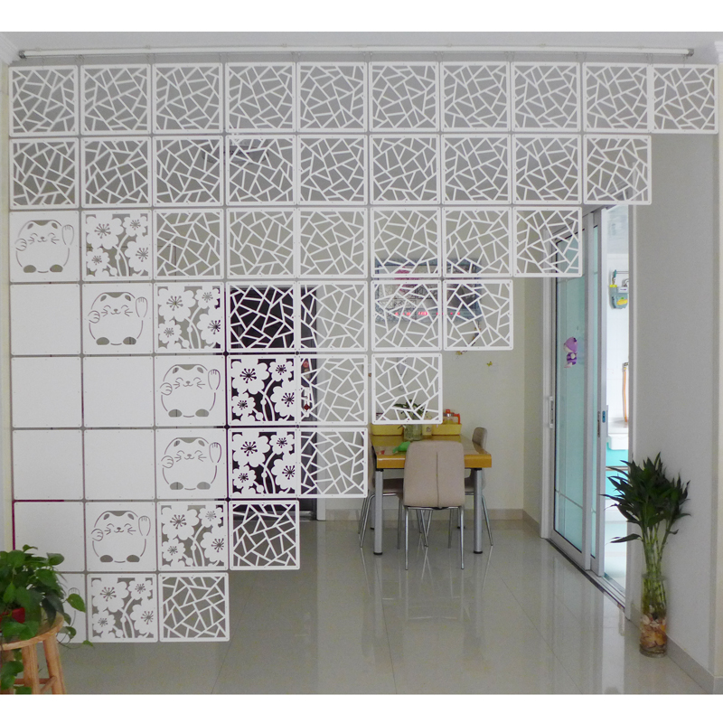Room Divider Biombo Room Partition Wall Folding Screen Curtain Hanging Screen Partition 4PCS/LOT 29CMX29CM リビング シャンデリア