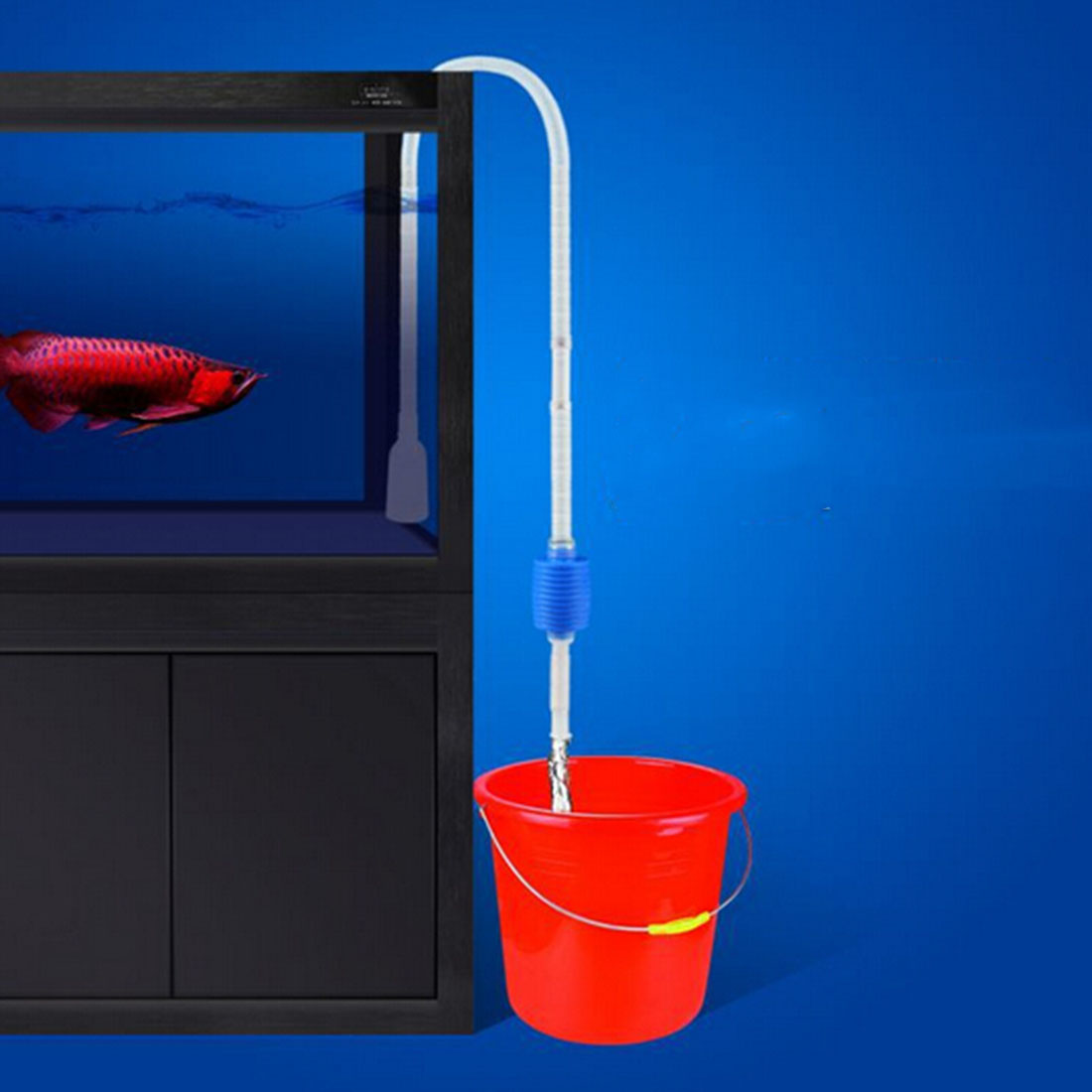 Aquarium fish tank vacuum cleaner pump syphon filter - Fish Tank Aquario Cleaning Tools Electric Gravel Cleaner Filter Siphon Vacuum Water Change Washer Pump Aquarium Accessories
