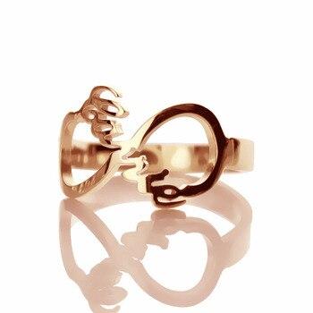 95b442900d8d AILIN envío gratuito. de estilo Carrie infinito nombre anillo personalizado  de nombre de plata anillo con símbolo infinito anillo
