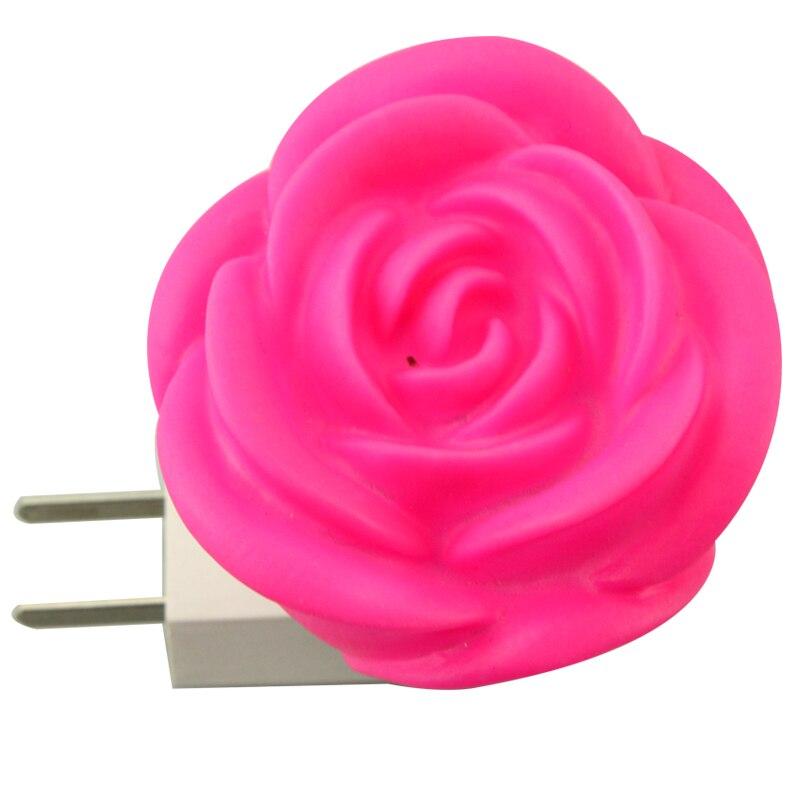 Lámpara LED de noche romántica con forma de rosa con enchufe europeo y estadounidense LUCKYLED luz LED moderna para espejos 8W 12W AC90-260V montado en la pared lámpara de pared industrial Baño Luz impermeable de acero inoxidable