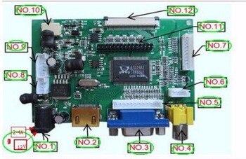 Универсальный HDMI VGA 2AV 50PIN TTL LVDS контроллер плата модуль монитор  Комплект для Raspberry