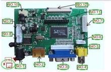 Универсальный HDMI VGA 2AV 50PIN TTL LVDS Плате Контроллера Модуль монитор Комплект для Raspberry PI ЖК AT070TN92 tn90 94 Панели freeship