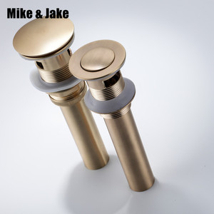 Image 1 - Gold brush Bathroom basin sink drain waste Pop Up Waste Vanity Vessel Sink Drain Without&with Overflow antique tap basin drains