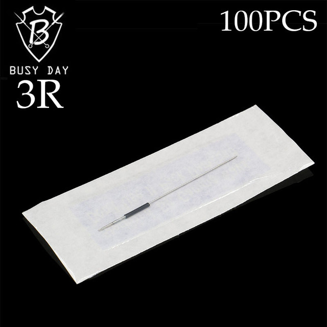 100pcs 3R Makeup Eyebrow Needles Permanent Makeup Needles Tattoo Needle For Free Shipping
