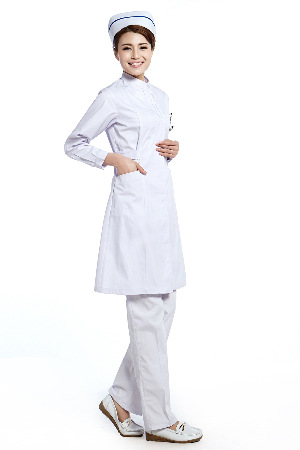 White Professional Nursing Uniform 31