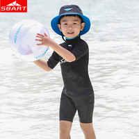 SBART เด็ก 2MM Neoprene ดำน้ำ Wetsuits ฤดูหนาวว่ายน้ำ Spearfishing Snorkeling Scuba ดำน้ำชุดเปียก Plus S-4XL