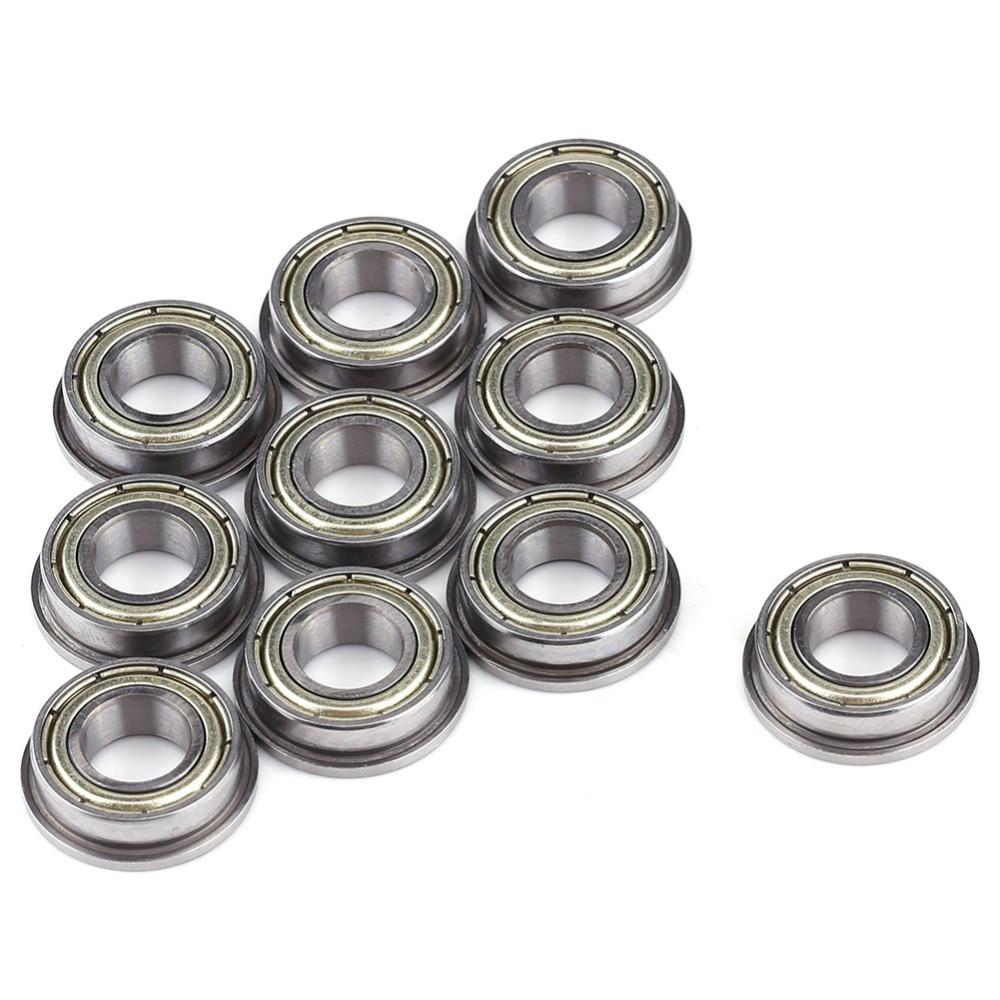 10PCs F688zz Mini Metal Double Shielded Flanged Ball Bearings 8mm*16mm*5mm US