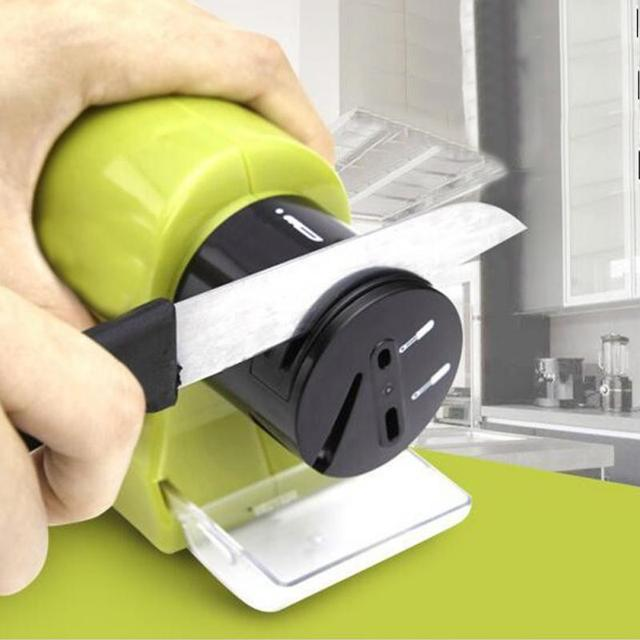 Kitchen Knife Sharpener 2 Slot Electric Diamond Steel Sharpening Machine Household Fruit Knives Milling Tools